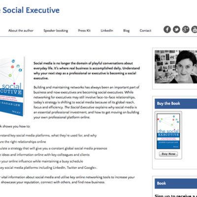 The Social Executive Book