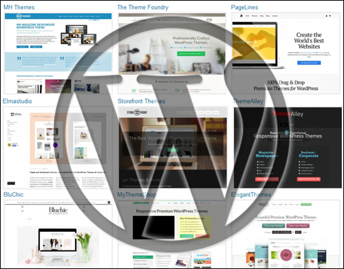 WordPress themes cover a wide-range of uses.