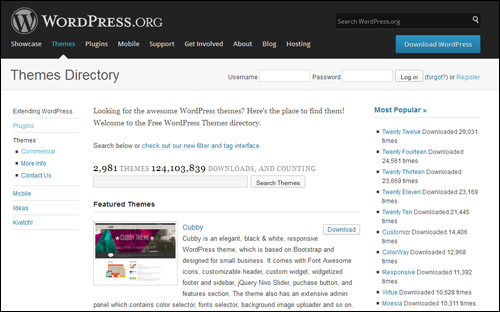 WordPress.org - Theme Repository