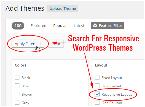 Use Theme Filtering