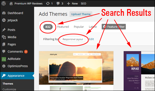 Use The WordPress Theme Feature Filters