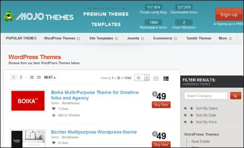 Mojo Themes - WP Themes Directory