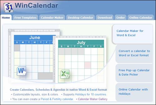 WinCalendar.com - Calendar Downloads