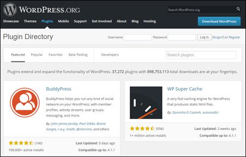 WordPress plugins repository