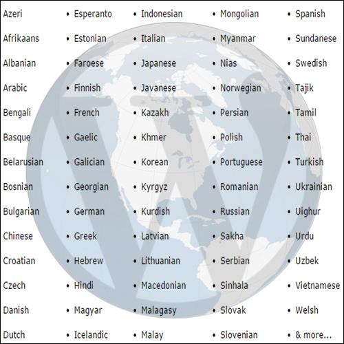 WP languages