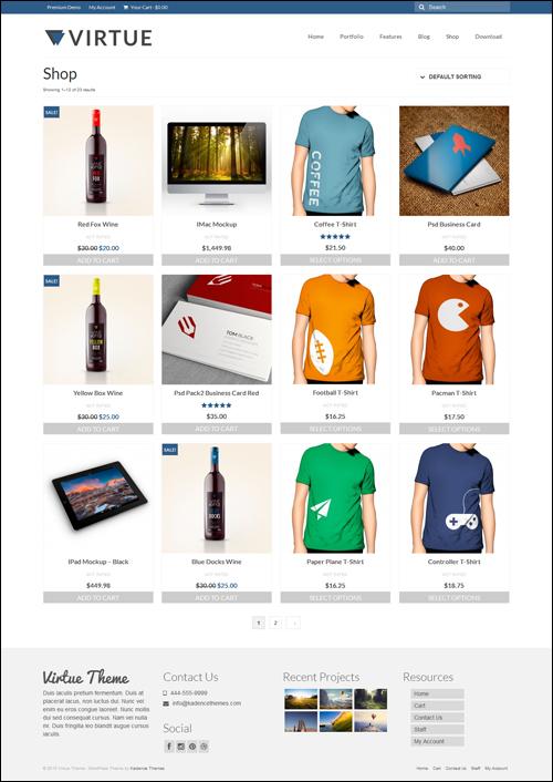 Virtue Free WordPress eCommerce Theme
