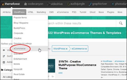 ThemeForest eCommerce WordPress Themes