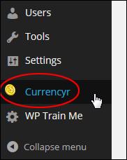 WP Plugin - Currencyr
