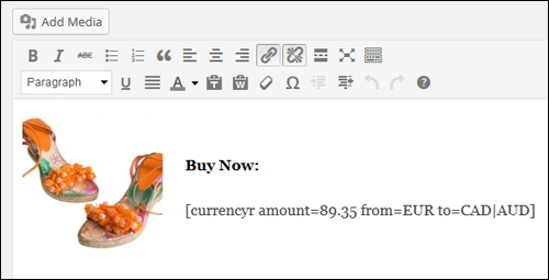WordPress Plugin - Currency Conversion