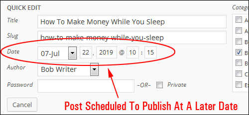 How To Schedule WordPress Blog Posts