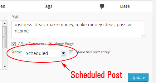 Scheduling Blog Posts In WordPress