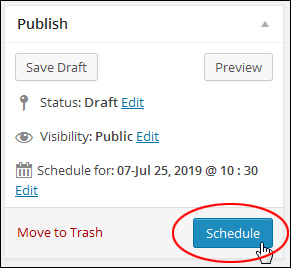 Scheduling WP Blog Posts