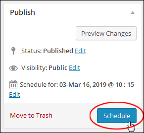 Scheduling Blog Posts In WP