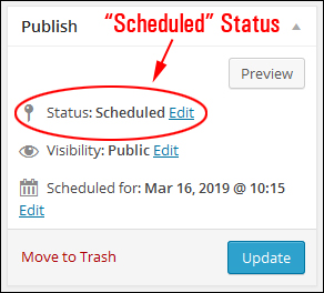 Scheduling WP Posts