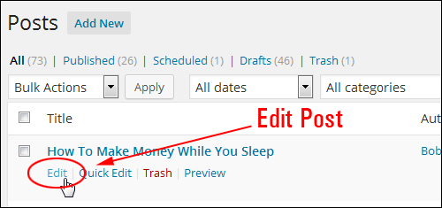 Scheduling WordPress Posts