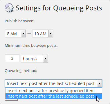 Queue Posts - WordPress Plugin