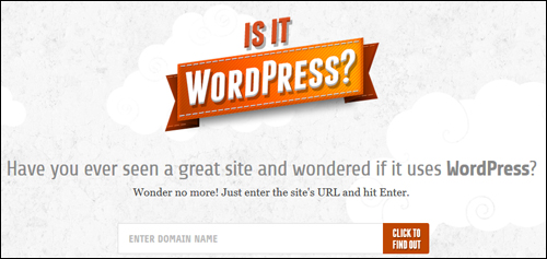 Is It WordPress?