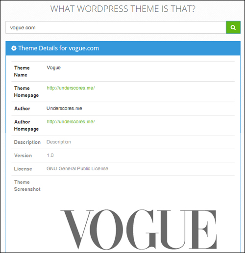 What WordPress Theme Is That - WordPress Theme Checking Tool