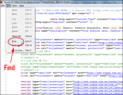 View The Page Source Code In Firefox