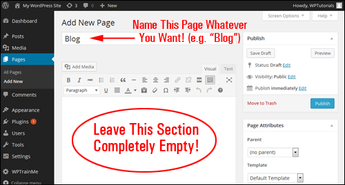 How To Create A Blog Section In Your WP Site