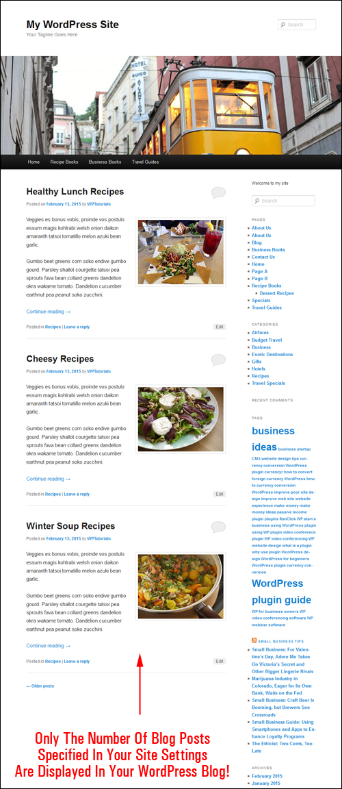How To Change The Number Of Published Blog Post Entries Showing On Your WP Blog - Tutorial
