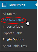 Adding Tables To WordPress Pages And Posts
