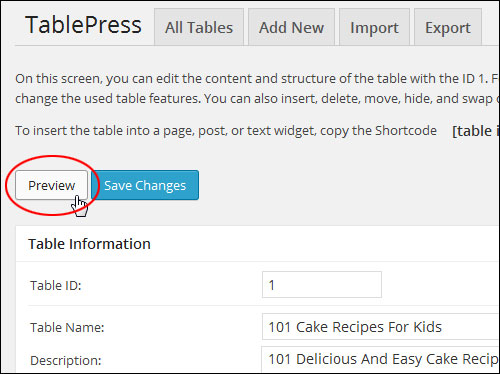 How To Insert Tables Into WordPress Posts And Pages