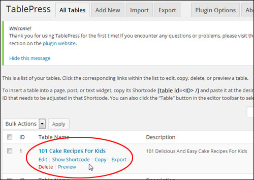How To Create And Add Tables In Pages And Posts With WordPress
