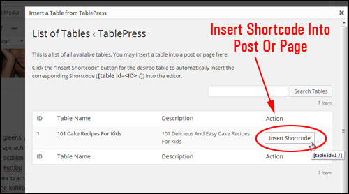 How To Add Tables In Pages And Posts In WordPress