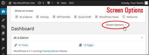 Customizing The WordPress Dashboard Area