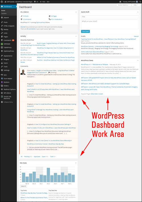 How To Customize The WordPress Dashboard Section
