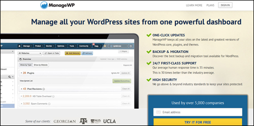 ManageWP.com - WordPress Management Software