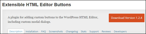 WP Plugin - Extensible HTML Editor Buttons