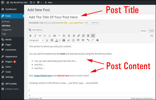 How To Create A WordPress Post - Step-By-Step Guide For WordPress Beginners